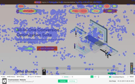 Freshmarketer ti permette di catturare l'esperienza dei tuoi visitatori sul tuo sito web